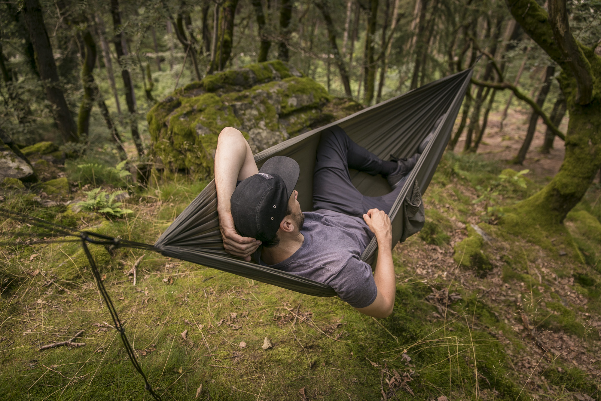 Snugpak Jungle Blanket as a Hammock Underquilt